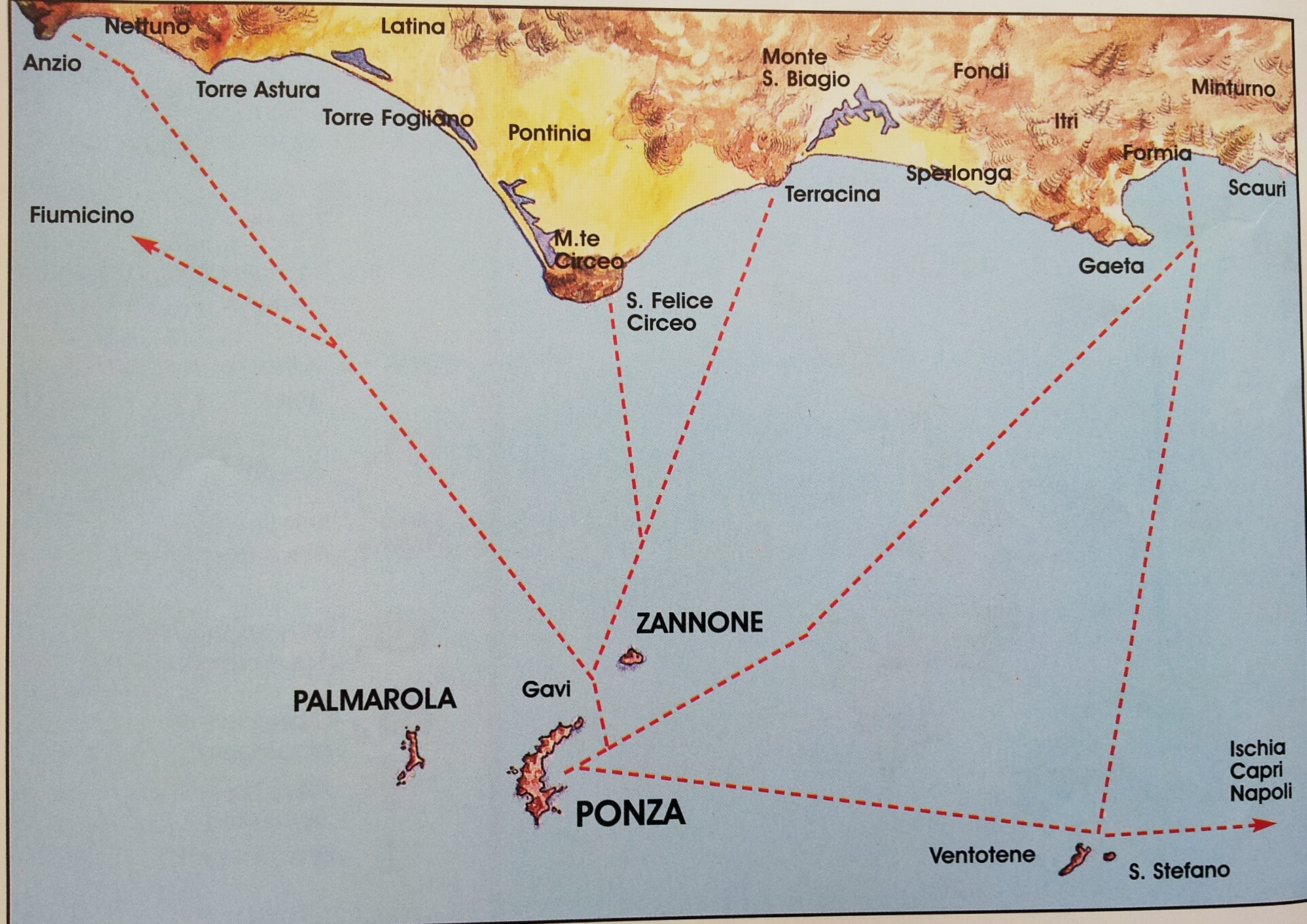 Ponza Italy  city photos gallery : Getting there | Sunset Village, Ponza, Italy